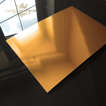 Paper for scrapbooking, color: shiny gold
