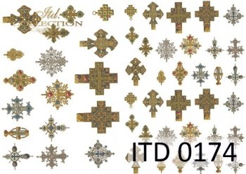 Decoupage paper ITD D0174