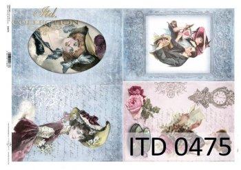 Decoupage paper ITD D0475M