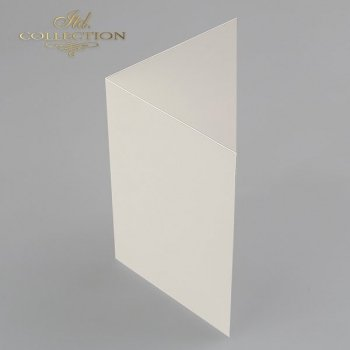 Card Base BDK-003 * cream colour, iridescent paper