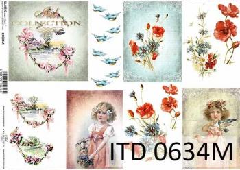 Decoupage paper ITD D0634M