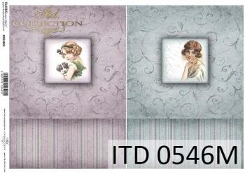 Decoupage paper ITD D0546M
