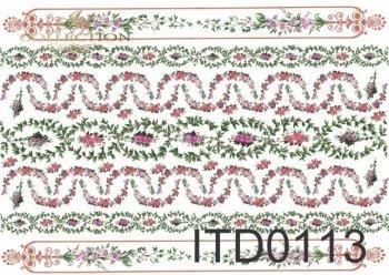Decoupage paper ITD 0113M