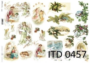 Decoupage paper ITD D0457M