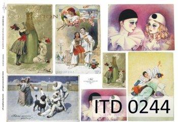 Decoupage paper ITD D0244