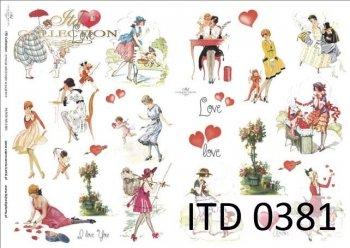 Decoupage paper ITD D0381M