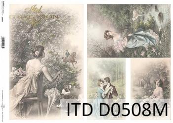 Decoupage paper ITD D0508M
