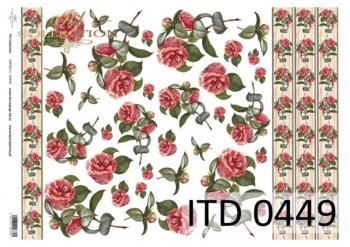 Decoupage paper ITD D0449