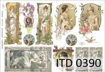 Decoupage paper ITD D0390