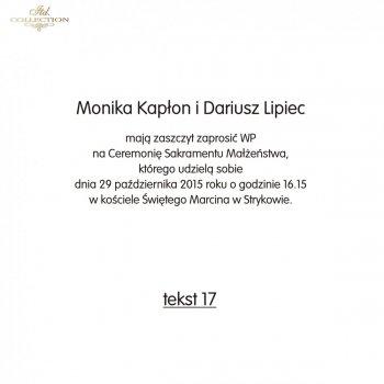 .text on wedding invitation - TS17