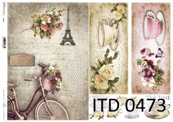 Decoupage paper ITD D0473
