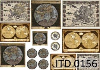 Decoupage paper ITD D0156