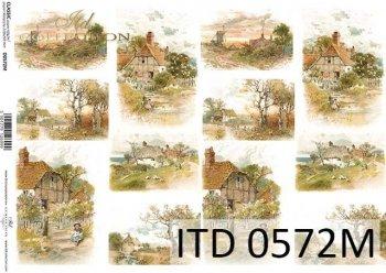 Decoupage paper ITD D0572M