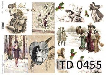 Decoupage paper ITD D0455