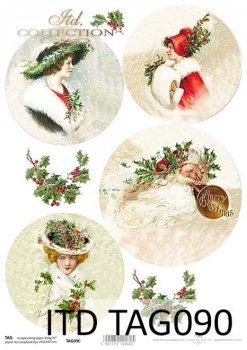 Cardboard for Christmas balls TAG0090
