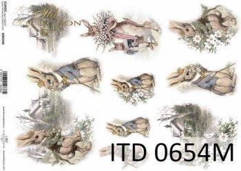 Decoupage paper ITD D0654M