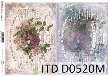 Decoupage paper ITD D0520M