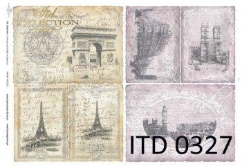 Decoupage paper ITD D0327