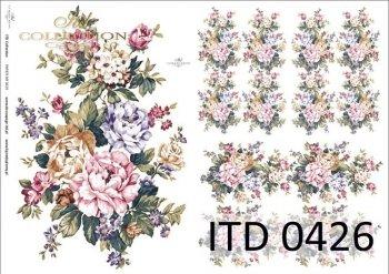 Decoupage paper ITD D0426