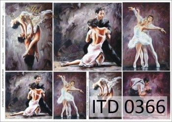 Decoupage paper ITD D0366