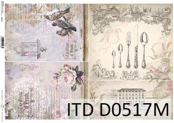 Decoupage paper ITD D0517M