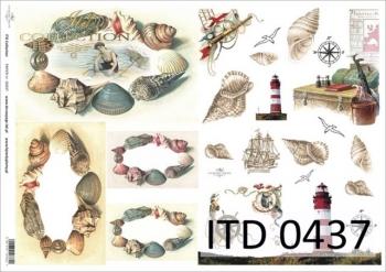 Decoupage paper ITD D0437