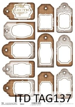 Tags, frames to scrapbooking TAG0137