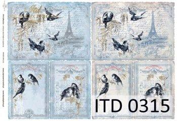 Decoupage paper ITD D0315M