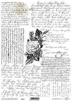 Translucent scrapbooking paper P0076