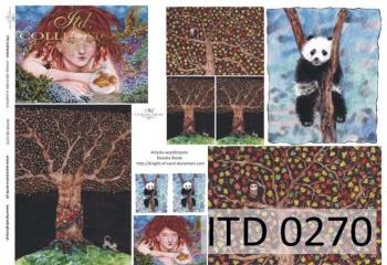 Decoupage paper ITD D0270M