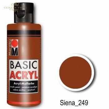 Farba akrylowa Basic Acryl 80 ml Siena 249
