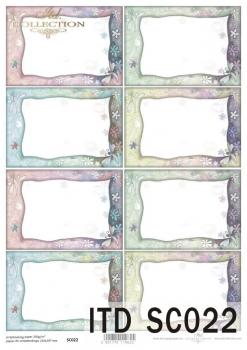 Papier scrapbooking SC0022