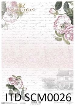 Papier scrapbooking SCM0026