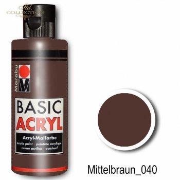Farba akrylowa Basic Acryl 80 ml Mittelbraun 040