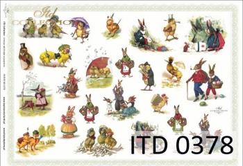 Papier decoupage ITD D0378M