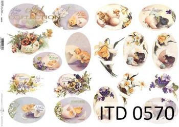 Papier decoupage ITD D0570