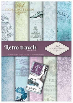 .Papier do scrapbookingu SCRAP-007 ''Retro travels''