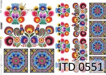 Papier decoupage ITD D0551