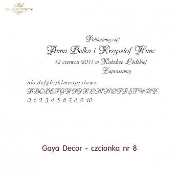 Czcionka na zaproszenie 08