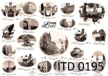 Papier decoupage ITD D0195M