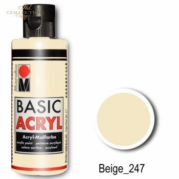 Farba akrylowa Basic Acryl 80 ml Beige 247