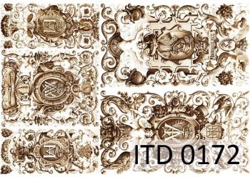 Papier decoupage ITD D0172