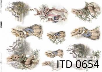 Papier decoupage ITD D0654