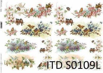 Papier decoupage SOFT ITD S0109L