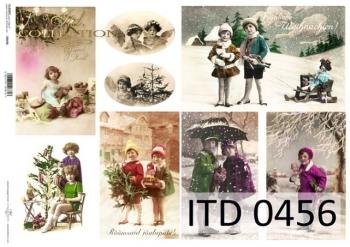Papier decoupage ITD D0456
