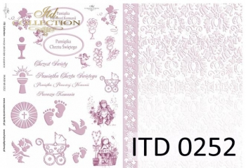 Papier decoupage ITD D0252