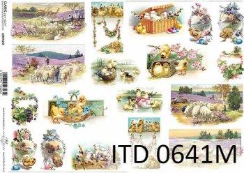 Papier decoupage ITD D0641M