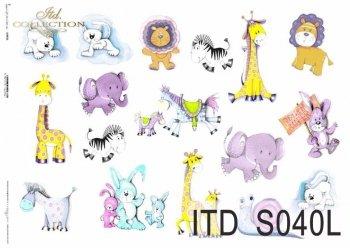 Papier decoupage SOFT ITD S0040L