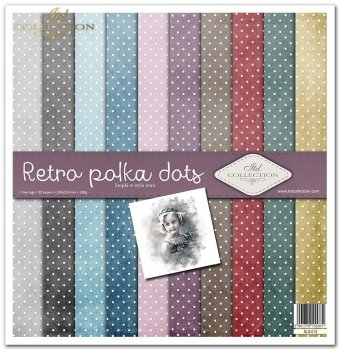 Zestaw do scrapbookingu SLS-015 Retro polka dots