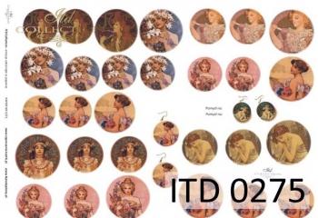 Papier decoupage ITD D0275